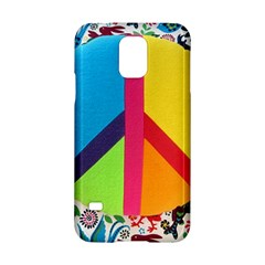 Peace Sign Animals Pattern Samsung Galaxy S5 Hardshell Case  by BangZart
