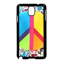 Peace Sign Animals Pattern Samsung Galaxy Note 3 Neo Hardshell Case (black)