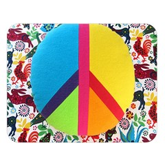 Peace Sign Animals Pattern Double Sided Flano Blanket (large)  by BangZart