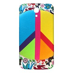 Peace Sign Animals Pattern Samsung Galaxy Mega I9200 Hardshell Back Case by BangZart