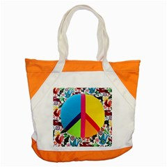 Peace Sign Animals Pattern Accent Tote Bag by BangZart