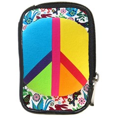 Peace Sign Animals Pattern Compact Camera Cases by BangZart