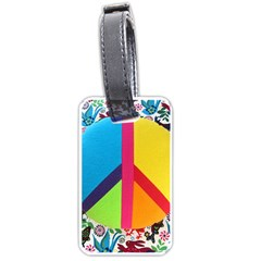 Peace Sign Animals Pattern Luggage Tags (two Sides) by BangZart