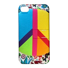 Peace Sign Animals Pattern Apple Iphone 4/4s Hardshell Case With Stand