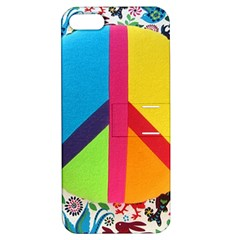 Peace Sign Animals Pattern Apple Iphone 5 Hardshell Case With Stand by BangZart