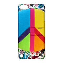 Peace Sign Animals Pattern Apple Ipod Touch 5 Hardshell Case With Stand