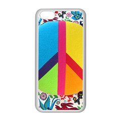 Peace Sign Animals Pattern Apple Iphone 5c Seamless Case (white) by BangZart