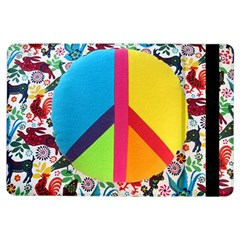 Peace Sign Animals Pattern Ipad Air Flip by BangZart