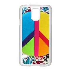 Peace Sign Animals Pattern Samsung Galaxy S5 Case (white)