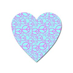 Peace Sign Backgrounds Heart Magnet by BangZart
