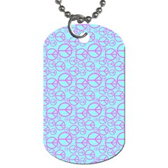 Peace Sign Backgrounds Dog Tag (one Side) by BangZart