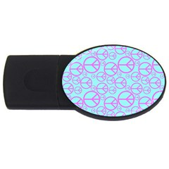 Peace Sign Backgrounds Usb Flash Drive Oval (4 Gb)