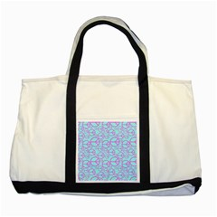 Peace Sign Backgrounds Two Tone Tote Bag