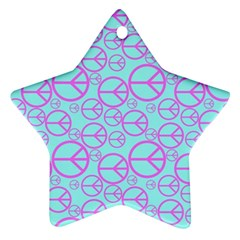Peace Sign Backgrounds Star Ornament (two Sides)