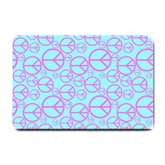 Peace Sign Backgrounds Small Doormat  by BangZart