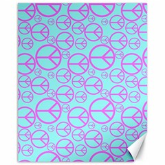 Peace Sign Backgrounds Canvas 11  x 14   by BangZart