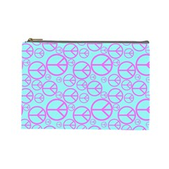 Peace Sign Backgrounds Cosmetic Bag (large)  by BangZart