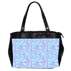 Peace Sign Backgrounds Office Handbags (2 Sides)  by BangZart
