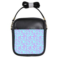Peace Sign Backgrounds Girls Sling Bags
