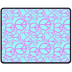 Peace Sign Backgrounds Fleece Blanket (medium)  by BangZart