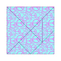 Peace Sign Backgrounds Acrylic Tangram Puzzle (6  X 6 )