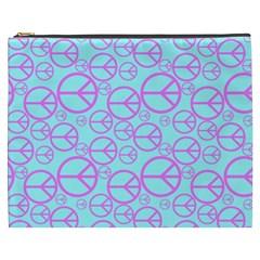Peace Sign Backgrounds Cosmetic Bag (xxxl)  by BangZart