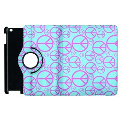 Peace Sign Backgrounds Apple Ipad 2 Flip 360 Case by BangZart