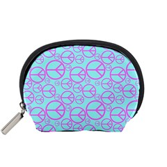 Peace Sign Backgrounds Accessory Pouches (small)