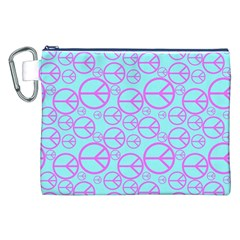 Peace Sign Backgrounds Canvas Cosmetic Bag (xxl) by BangZart