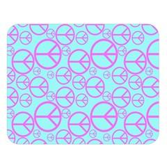 Peace Sign Backgrounds Double Sided Flano Blanket (large)  by BangZart