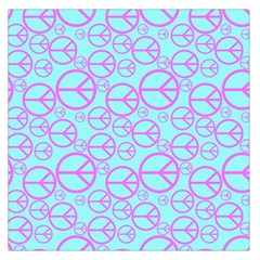Peace Sign Backgrounds Large Satin Scarf (square)