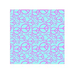 Peace Sign Backgrounds Small Satin Scarf (square) by BangZart