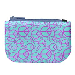Peace Sign Backgrounds Large Coin Purse by BangZart