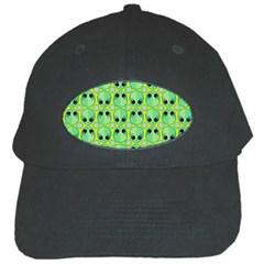 Alien Pattern Black Cap by BangZart