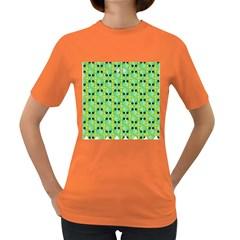 Alien Pattern Women s Dark T Shirt