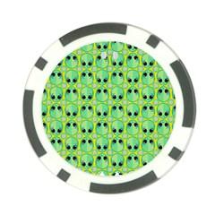 Alien Pattern Poker Chip Card Guard by BangZart