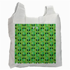 Alien Pattern Recycle Bag (one Side) by BangZart