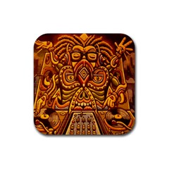 Alien Dj Rubber Square Coaster (4 Pack)  by BangZart