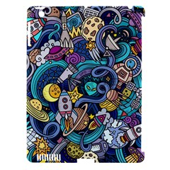 Cartoon Hand Drawn Doodles On The Subject Of Space Style Theme Seamless Pattern Vector Background Apple Ipad 3/4 Hardshell Case (compatible With Smart Cover) by BangZart