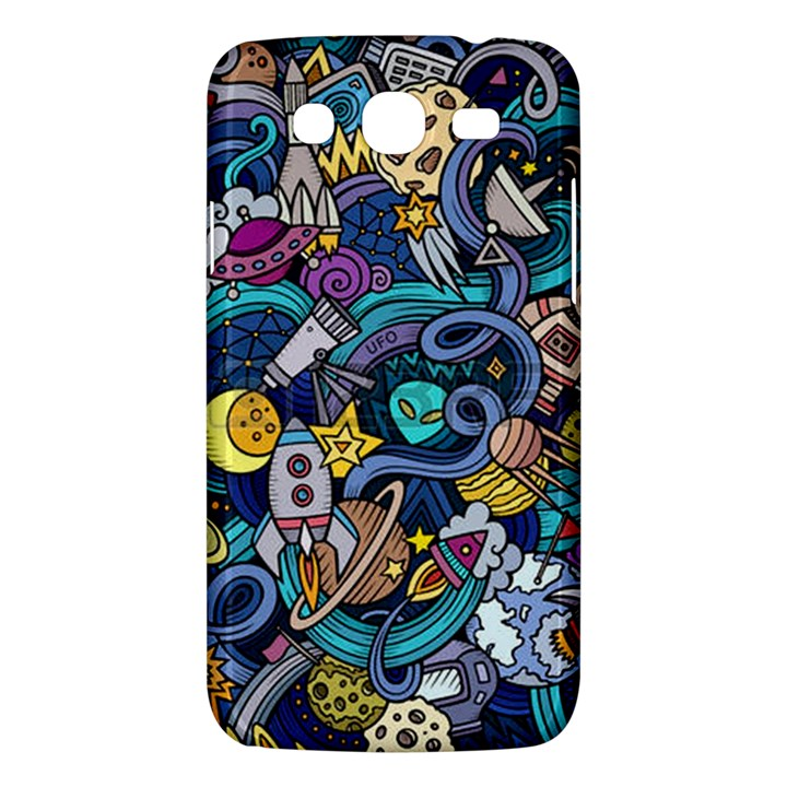 Cartoon Hand Drawn Doodles On The Subject Of Space Style Theme Seamless Pattern Vector Background Samsung Galaxy Mega 5.8 I9152 Hardshell Case
