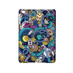 Cartoon Hand Drawn Doodles On The Subject Of Space Style Theme Seamless Pattern Vector Background Ipad Mini 2 Hardshell Cases by BangZart
