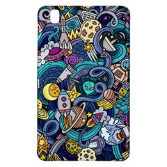 Cartoon Hand Drawn Doodles On The Subject Of Space Style Theme Seamless Pattern Vector Background Samsung Galaxy Tab Pro 8 4 Hardshell Case