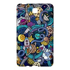 Cartoon Hand Drawn Doodles On The Subject Of Space Style Theme Seamless Pattern Vector Background Samsung Galaxy Tab 4 (8 ) Hardshell Case  by BangZart