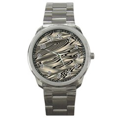 Alien Planet Surface Sport Metal Watch