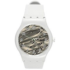 Alien Planet Surface Round Plastic Sport Watch (m) by BangZart