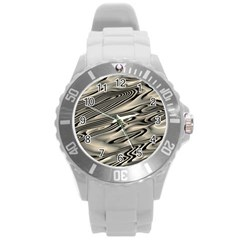 Alien Planet Surface Round Plastic Sport Watch (l)