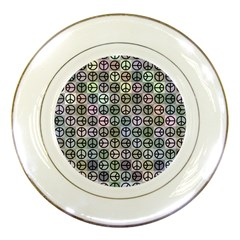 Peace Pattern Porcelain Plates by BangZart