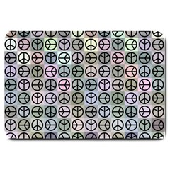 Peace Pattern Large Doormat  by BangZart