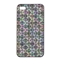 Peace Pattern Apple Iphone 4/4s Seamless Case (black)