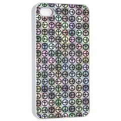 Peace Pattern Apple Iphone 4/4s Seamless Case (white) by BangZart